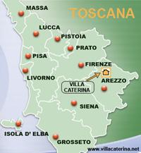 Villa Caterina nel cuore della Toscana